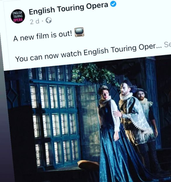 Watch the opera online through the English Touring Opera website